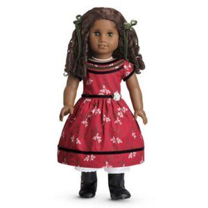American Girl Cecile's Special Dress Red Floral